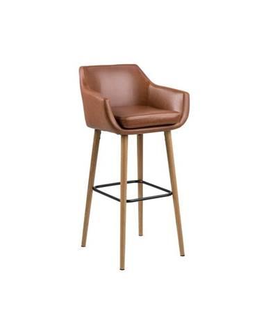 Sada 2 hnedých barových stoličiek Actona Nora