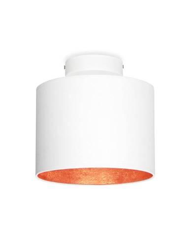 Biele stropné svietidlo s detailom v medenej farbe Sotto Luce MIKA Elementary XS CP