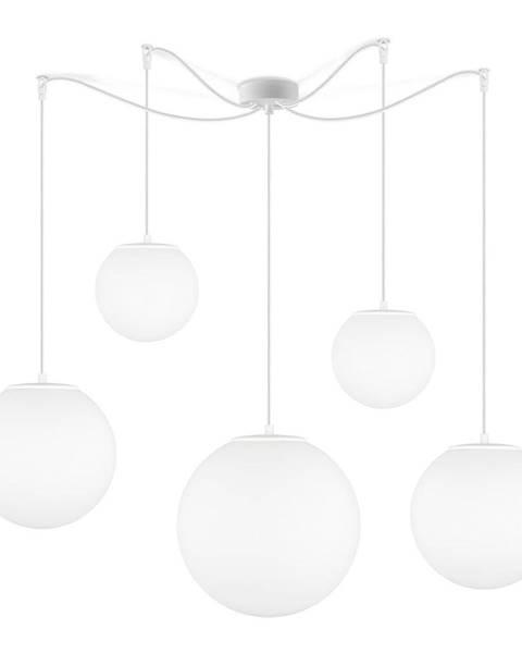 Sotto Luce Matne biele päťramenné závesné svietidlo Sotto Luce Tsuki