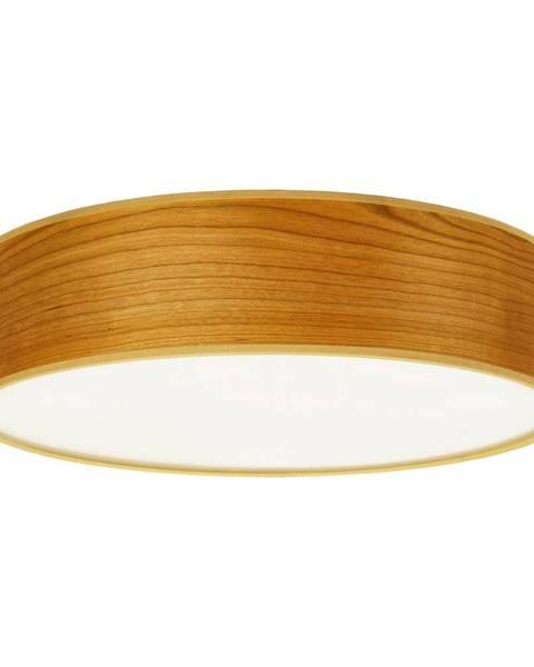 Sotto Luce Stropné svietidlo z prírodnej dyhy vo farbe čerešňového dreva Sotto Luce TSURI, Ø 40 cm