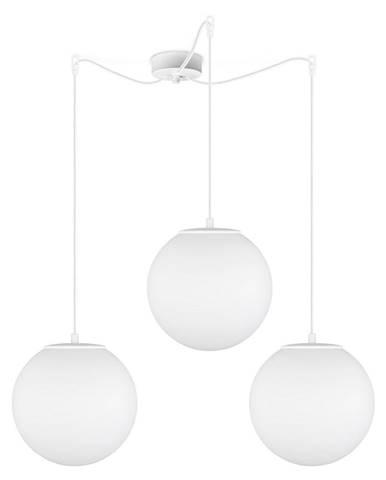 Matne biele trojramenné závesné svietidlo Sotto Luce Tsuki, ⌀ 25 cm