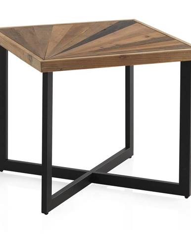 Konferenčný stôl s čiernou železnou konštrukciou Geese sunrays, 60 x 60 cm