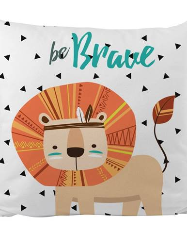 Obliečka na vankúš z bavlneného saténu Mr. Little Fox Indian Lion, 50 x 50 cm
