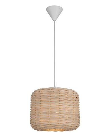Závesné svietidlo s bambusovým tienidlom Homemania Decor Bamboo, ø 25 cm