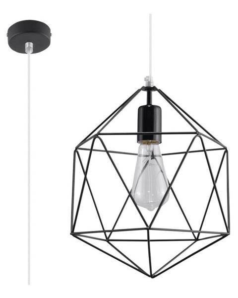Nice Lamps Čierne stropné svietidlo Nice Lamps Donato