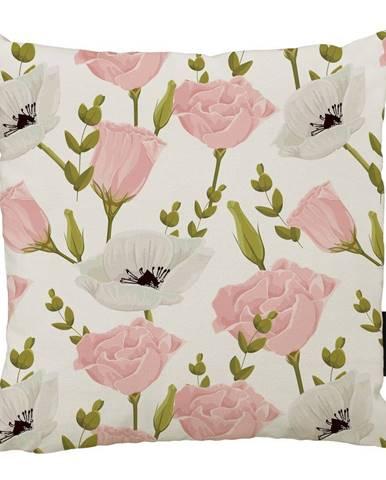 Vankúš Butter Kings Pink Roses, 50 x 50 cm