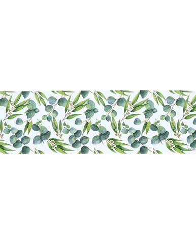 Zelený bavlnený behúň na stôl Butter Kings Floating Eucalyptus, 40 x 140 cm