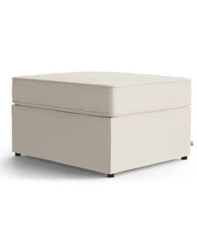 Krémovobiela polstrovaná rozkladacia lavica My Pop Design Brady, 80 cm