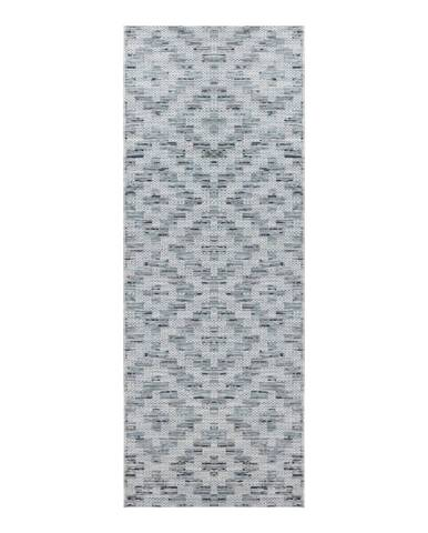 Modro-sivý behúň Elle Decor Curious Creil, 77×200 cm