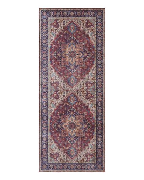 Nouristan Červeno-fialový koberec Nouristan Anthea, 80 x 200 cm