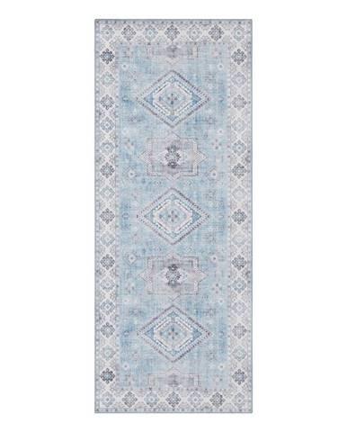 Svetlomodrý koberec Nouristan Gratia, 80 x 200 cm
