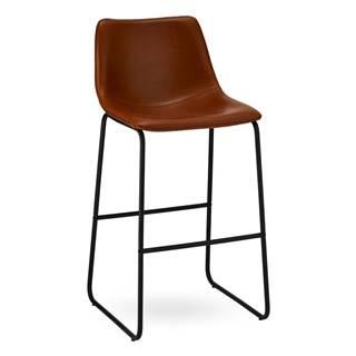 Sada 2 hnedých barových stoličiek FurnhoIndiana