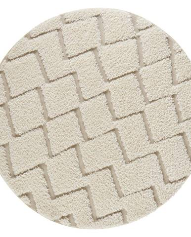 Krémovobiely koberec Mint Rugs Handira,⌀160cm