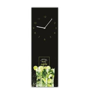 Nástenné hodiny Styler Glassclock Mojito, 20×60 cm