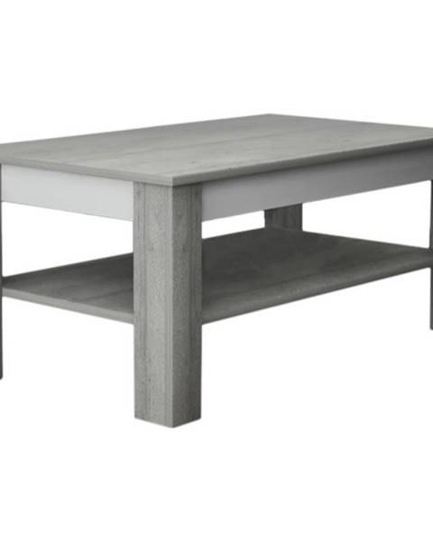 Sconto Konferenčný stolík VOTO 2 betón/biela