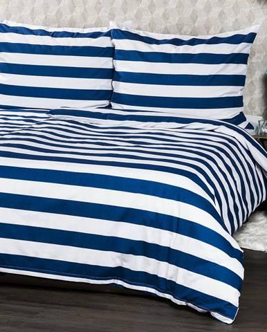 4Home bavlnené obliečky Navy, 140 x 220 cm, 70 x 90 cm