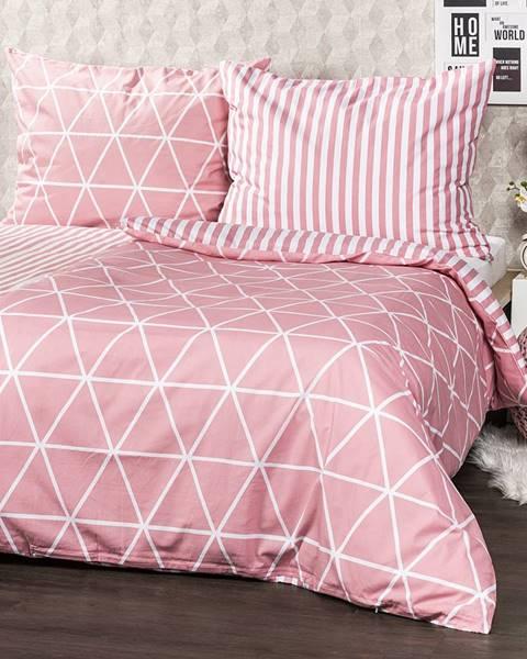 4Home 4Home Bavlnené obliečky Galaxy ružová, 140 x 220 cm, 70 x 90 cm