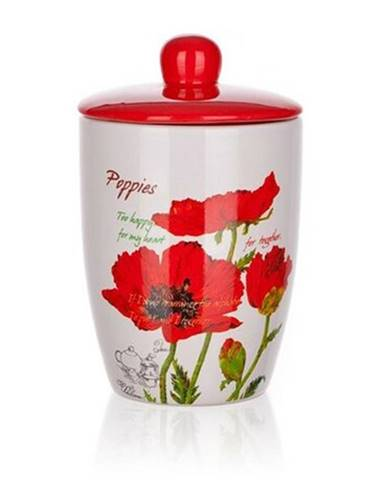Banquet dóza s víčkem 600 ml Red Poppy OK