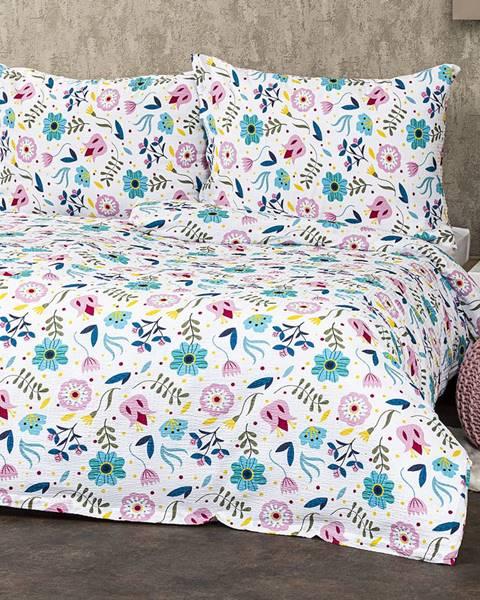 4Home 4Home Krepové obliečky Flowers, 140 x 200 cm, 70 x 90 cm