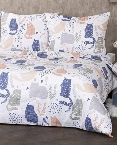 4Home Bavlnené obliečky Nordic Cats, 160 x 200 cm, 70 x 80 cm