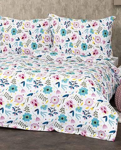 4Home Krepové obliečky Flowers, 140 x 220 cm, 70 x 90 cm