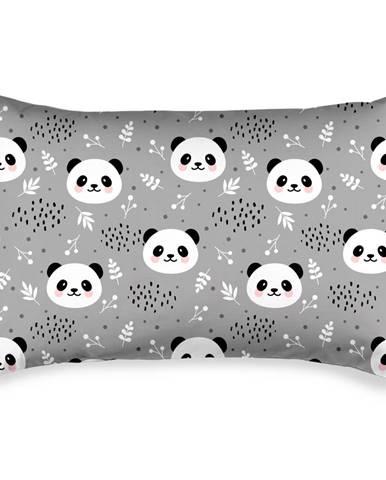 4home Obliečka na vankúšik Nordic Panda krep, 50 x 70 cm