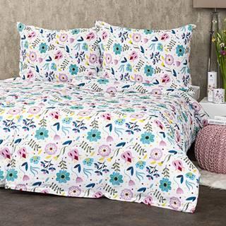 4Home Krepové obliečky Flowers, 140 x 200 cm, 70 x 90 cm