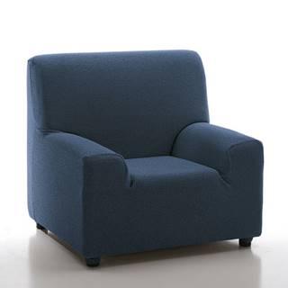 Forbyt Multielastický poťah na kreslo Petra modrá, 70 - 100 cm