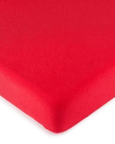 4Home jersey prestieradlo červená, 180 x 200 cm