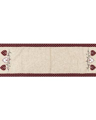 BO-MA Trading Behúň Srdiečka bodka červená, 40 x 140 cm
