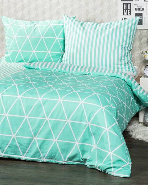 4Home 4Home Bavlnené obliečky Galaxy zelená, 140 x 220 cm, 70 x 90 cm