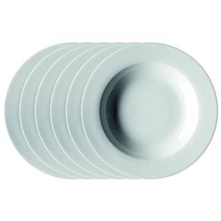 Mäser Sada hlbokých tanierov Clasico 21,5 cm, 6 ks, biela