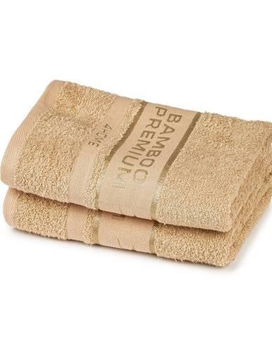 4Home Bamboo Premium uterák béžová, 50 x 100 cm, sada 2 ks