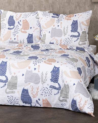 4Home Bavlnené obliečky Nordic Cats, 140 x 220 cm, 70 x 90 cm