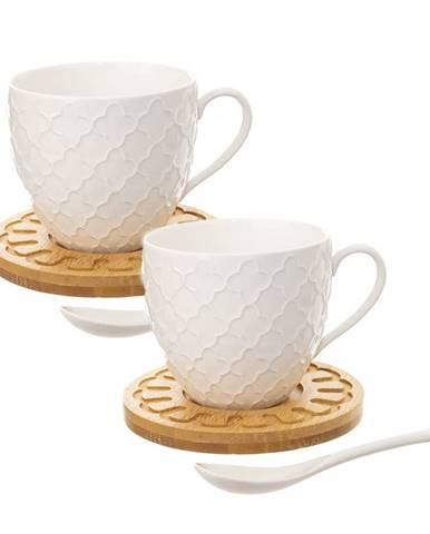 Orion Sada porcelánovej šálky s podšálkou a lyžičkou Bambu, 2 ks
