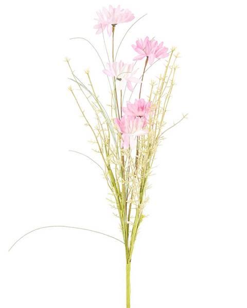 Gardinia Umelé lúčne kvetiny 50 cm, ružová
