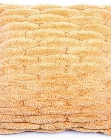 BO-MA obliečka na vankúšik chlpatá prešívaná oranžová 45x45 cm