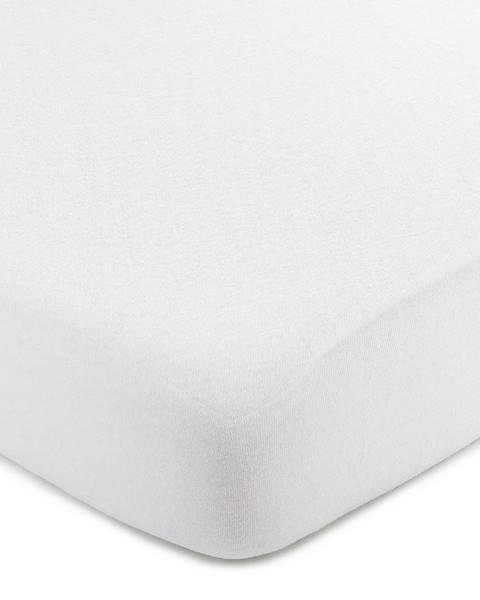 4Home 4Home jersey prestieradlo biela, 90 x 200 cm
