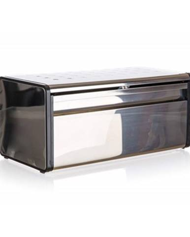 Banquet Chlebník nerezový Quadra 39,5 x 20,5 x 18 cm, čierny lem