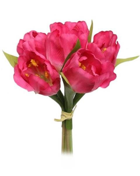 Bino Umelá kvetina zväzok Tulipán, ružová