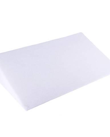 Bellatex Biela obliečka - Klinový podhlavník, 80 x 50 x 20 cm