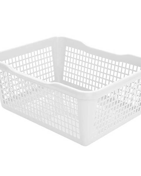 Banquet Aldo Plastový košík 47,5 x 37,8 x 20,8 cm, biela