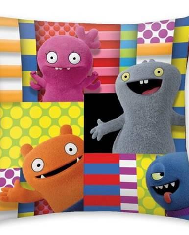 Halantex Vankúšik Ugly Dools Patchwork, 40 x 40 cm