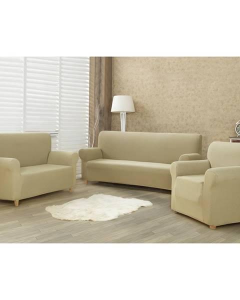 4Home 4Home Multielastický poťah na sedaciu súpravu Comfort béžová, 180 - 220 cm