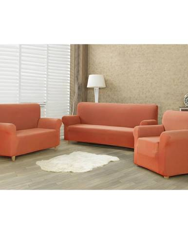 4home Multielastický poťah na sedaciu súpravu Comfort terracotta, 180 - 220 cm