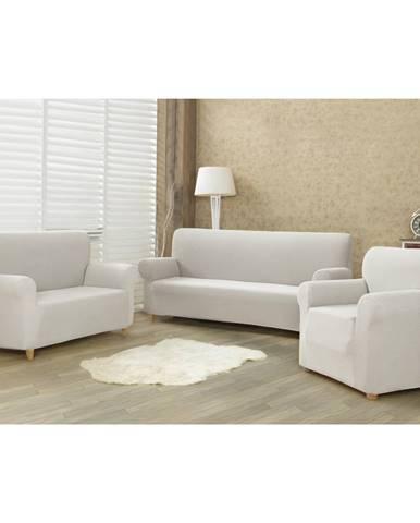 4home Multielastický poťah na sedaciu súpravu Comfort smotanová, 180 - 220 cm