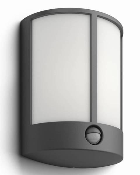 Philips Philips 16465/93/16 Stock Vonkajšie nástenné LED svietidlo s čidlom 24,5 cm, antracit
