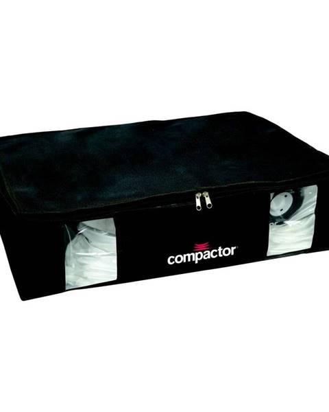 Compactor Čierny úložný box s vákuovým obalom Compactor Black Edition, objem 145 l