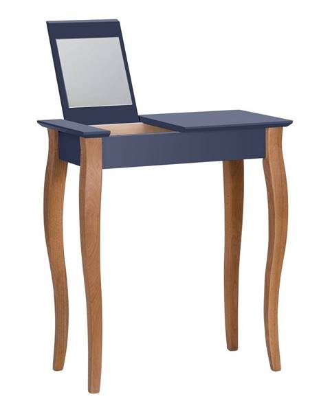Ragaba Grafitovosivý toaletný stolík sozrkadlom Ragaba Dressing Table,dĺžka65cm