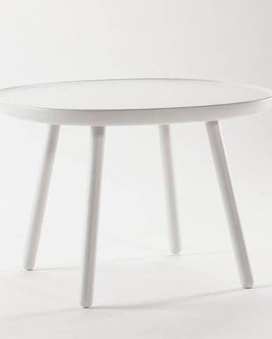 Biely stolík z masívu EMKO Naïve, ø64cm
